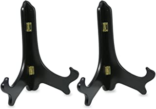 BANBERRY DESIGNS Black Wooden Easels Premium Quality Plate Holder Folding Display Stand - 9 Inch - Set of 2 Pieces