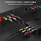 VTOP RCA/Phono Male Plug to Plug Composite AV Audio Video Cable TV Leads - Triple 3x RCA to RCA Phono Stereo Cable with Yellow Red White Plug for RCA Converter (1M)