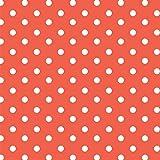 Baumwollstoff Punkte Orange Webware Meterware Popeline