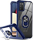 KP TECHNOLOGY Galaxy A02s Case, Clear Ring Holder Military