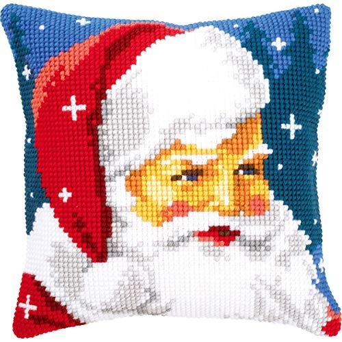 Kit coussin au point de croix Père Noël