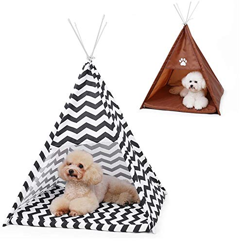 Generic Brands Pet House Tent Shaped Pet Cozy House Cat Home Small Dog Cat Foldable Bed Cat House Puppy Kitten Bed Animals Home