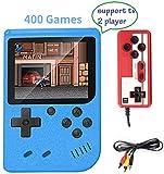 Handheld Spielkonsole, 400 Klassische Spielen 3-Zoll-LCD-Bildschirm tragbare Retro-Videospielkonsole Unterstützt das Anschließen an den