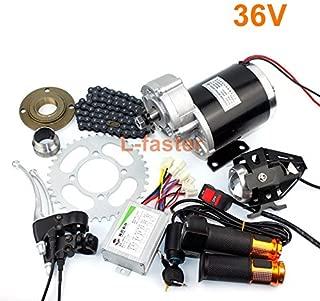 L-faster 24V36V48V 450W Electric Ricksha Engine Kit 3-Wheel Bicycle Electric Motor kit DIY Electric Pedicab Brushed DC Motor with Gearbox