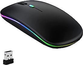 GeekerChip Souris sans Fil Rechargeable,2.4G Souris,2.4G sans Fil Ultra-Mince/Silencieux(800-1200-1600,avec USB câble,Wire...