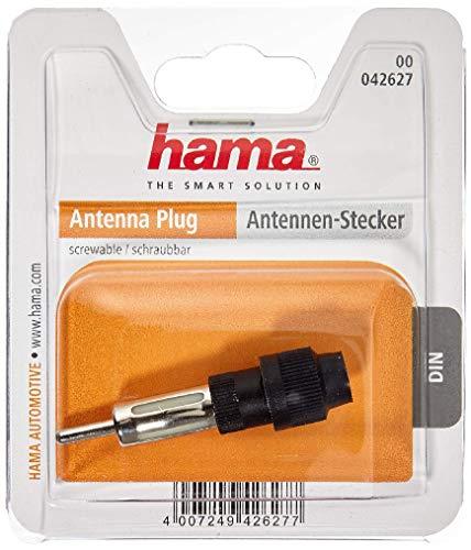 Hama Fiche d'antenne (DIN mâle, à visser, 1 pièce) Gris/Noir
