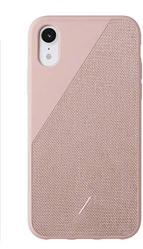 Native Union Clic Canvas Hülle- Hochwertige Gewebehülle- kompatibel mit iPhone XR (Rosa)