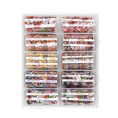 VONKY Transferência estrela prego Natal Papel Sticker Set Floco de neve mágico Nail Art Decalques Kit Beauty Supplies 1