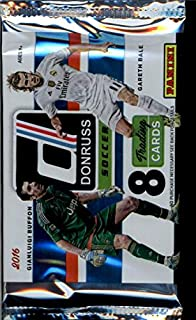 1 Unopened Pack of 2016 Donruss Soccer Cards (8 cards/pack) - Possible Autographs, low numbered inserts, Lionel Messi, Christiano Ronaldo, and more!