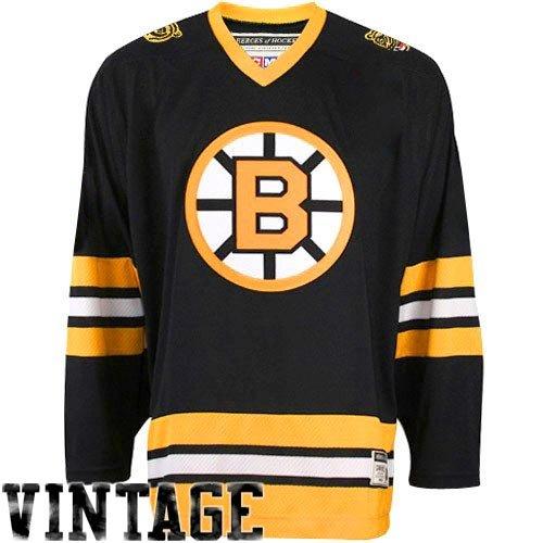 Reebok NHL Boston Bruins Team Classic Trikot, Schwarz, Größe L