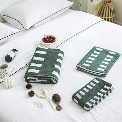 Geométrico color tejido toalla conjunto amor pentago estrella sombra puro algodón noodar toalla