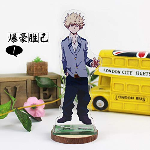 Haus Dekoration 16cm My Hero Academia Anime Figure Acryl Stand Modell Spielzeug Deku Könnte Shigaraki Tomura Anime Collection DIY Action Figuren Spielzeug (Color : Beiger)