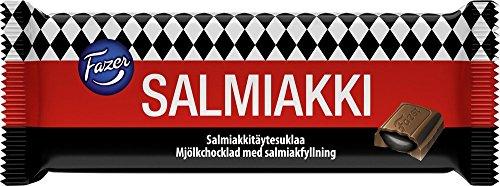 2 Bars X 100g of Fazer Salmiakki Salty Liquorice in Finnish Classic Milk Chocolate