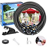 Misters for Outside Patio,50FT Outdoor Misting Cooling System kit for Fan, Porch, Umbrella, Deck, Canopy,Pool.Backyard Misting Systems Mist Hose,Water Misters for Garden,Greenhouse,Yard Waterpark