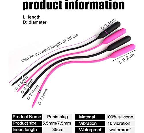 LUCKY FAT MAN El Juguete elástico uretral de Silicona de 1 Pieza estimula la vibración de la Mano del Juguete de relajación (Color Aleatorio, Longitud 7,5 mm) - A95