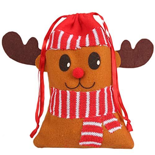 MAJFK - Bolsas de regalo para dulces de Navidad, bolsas de regalo de dibujos animados, bolsas de regalo para Navidad, fiestas, decoración de festivales, tipo 3