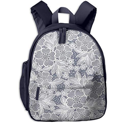 Kinderrucksack Kleinkind Jungen Mädchen Kindergartentasche Spitze Blumenblumen häkeln Backpack Schultasche Rucksack