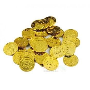 GlobalCareMarket Bitcoins for Party  50 Bitcoin Pieces Gold Color