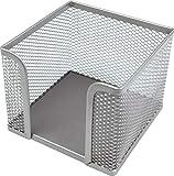 Helit H2518400 - Zettelbox'the cube network', silber