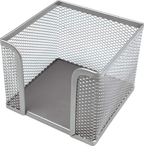 "Helit H2518400 - Zettelbox\""the cube network\"", silber"