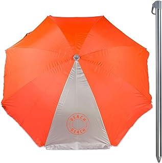 Aktive Sombrilla Filtro UV, Color Naranja neon, Diametro 220 cm (ColorBaby 85298)