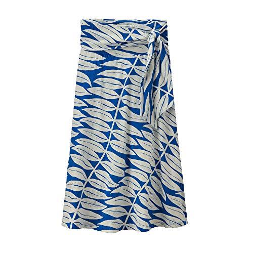 Patagonia W Kamala Midi Skirt Blauw, Vrouwen Rokken, Maat XS - Kleur Eucalyptus Fronds - Bayou Blue