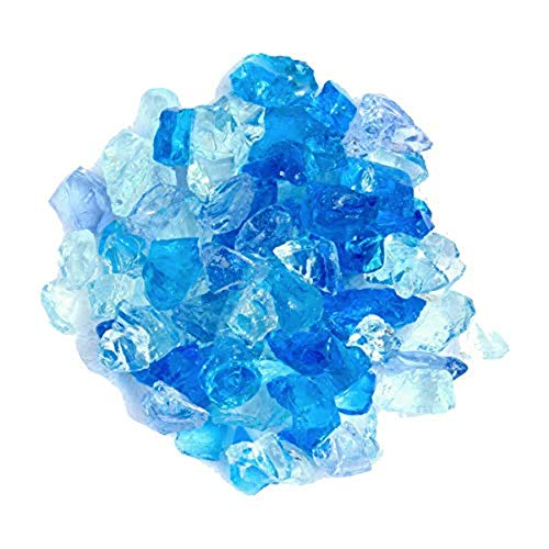 Hiland RGLASS-BB Pit Fire Glass i n Bahama Blend, Extreme Tempature Rating, Good for Propane or Natural Gas, 10 Pounds, 10 lb