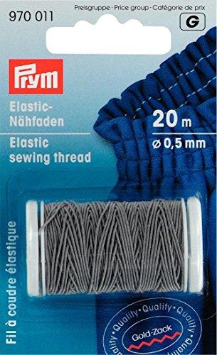 Prym 0,5mm 20m Elastic Nähgarn, hellgrau