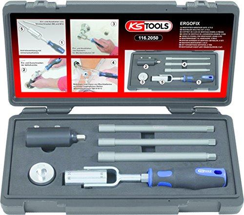 KS Tools 116.2050 - Coffret spécial sanitaire - Douilles Ø9 à 13 mm - Spécial montage et démontage de lavabo - En Acier Chrome Vanadium extra-fin - 6 pièces
