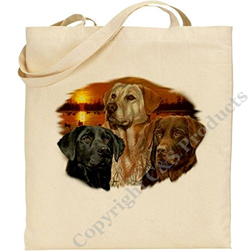 C & S Products (AB) Labrador Retrievers au Coucher du Soleil en Coton Naturel Sac