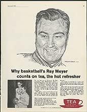 De Paul U Coach Ray Meyer & George Mikan for Tea Council ad 1962