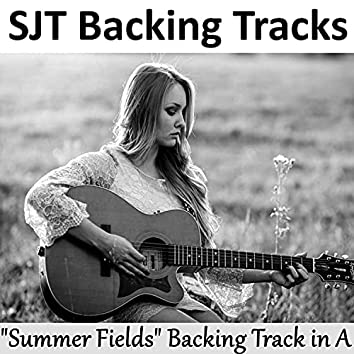 Summer Fields Guitar Backing Track in A Majestic Ballad #244