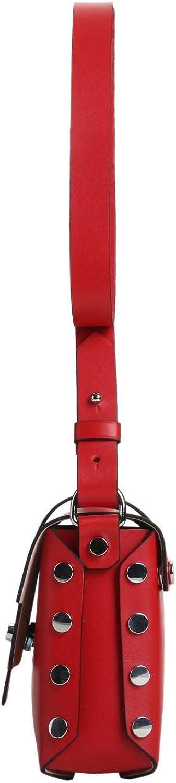 Kesslord Tic MV, Sacs Porté travers Tictactoe en Cuir de vachette lisse Rouge - R