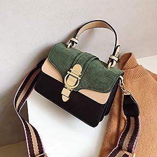 Adebie - 2019 New Brand Women Leather Handbags Famous Luxury Designer Contrast Color Fashion Shoulder Bags Female Crossbody Purses Bolsas Green []
