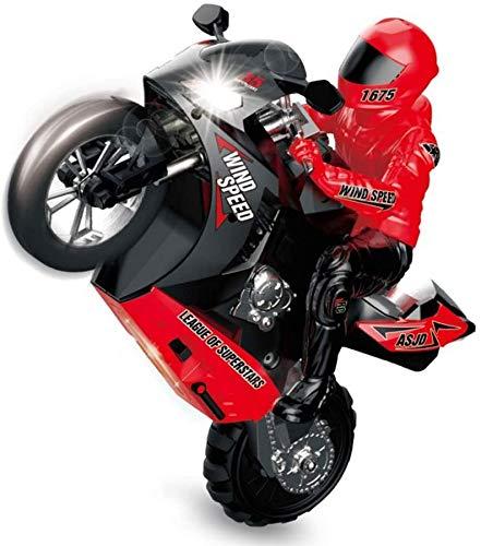 Wghz High Speed Stunt RC Motocicleta Niños 2.4Ghz Rock Crawler Vehículo de Gran tamaño 1: 6 Offroad Monster Toy Car 360 & deg; Flips Rotating Drift Motocicletas de Control Remoto para niños de