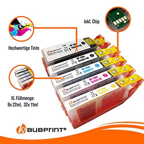 40 Bubprint Druckerpatronen kompatibel für Canon PGI-550 CLI-551 XL für Pixma IP7200 IP7250 IX6850 IP8750 MG5450 MG5550 MG5650 MG6350 MG6450 MG6650 MG7150 MG7550 MX725 MX920 MX925 Multipack