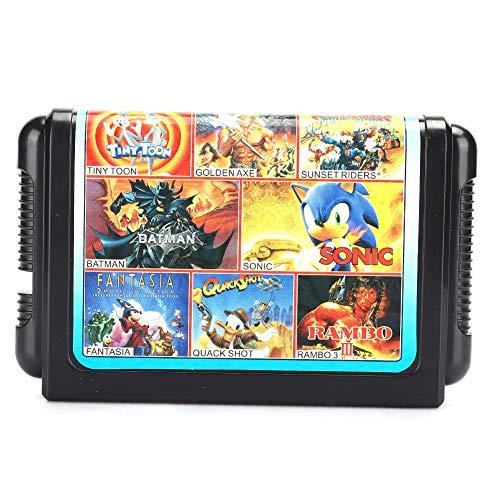 Weikeya 16.-bisschen Spiel Karte, Gaming Grafik Karte mit Plastik zum Sega Gamepad Gaming Zubehör