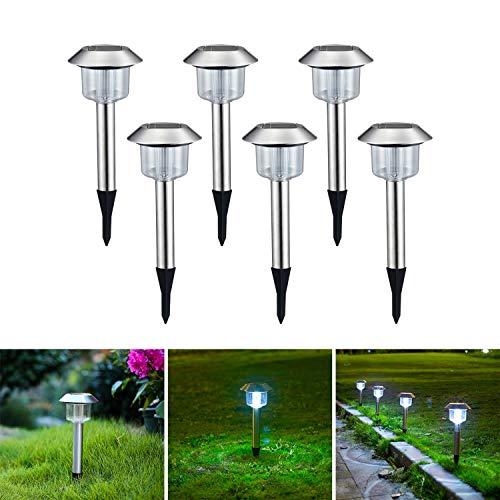 Gartenbeleuchtung Solar Led Gartenleuchten Mit Erdspiess Wasserdicht Solarlampe Solarlichter Für Außen Garten Retro Vintage 6 Stücke