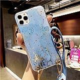 LIUYAWEI Funda de mármol de lámina Dorada para iPhone 12 Pro...