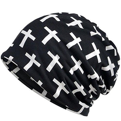 Belsen Unisex dual use kruis beanie gebreide muts schedel cap slab