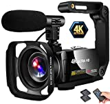 Video Camera 4K Camcorder Vlogging Camera Recorder 30MP 3' LCD Touch Screen 18X Digital Zoom YouTube...