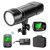 Neewer VISION2 200Ws 2.4G TTL Flash Strobe Compatible with Canon DSLR Cameras, 1/8000