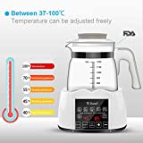 Baby Bottle Warmer Steam Sterilizwer, Water Kettle Milk Adjuster Multifunction Bottle Warm Milk Intelligent Thermostat Food Heater, LED Display Heating Adjustment Boiling and Dechlorination