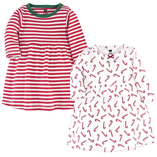 Hudson Baby Girl's Cotton Dresses, Candy Cane, 4 Toddler