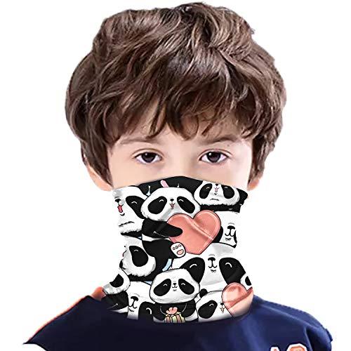Kids Neck Gaiter Bandana Face Cover Dust Protection Children Scarf Q-Panda