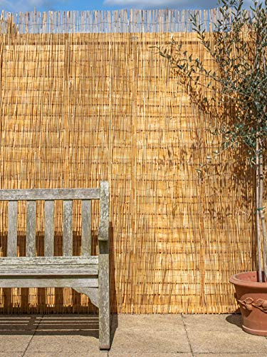 Papillon 4.0 x 2.0m (13ft 1in x 6ft 7in) Reed Natural Garden Fence Screening Roll Privacy Border Wind/Sun Protection