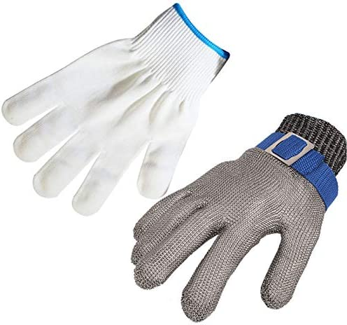 ThreeH Cut Resistant Gloves Stainless Steel 316L Wire Mesh Butcher Gloves Level 5 Protection product image