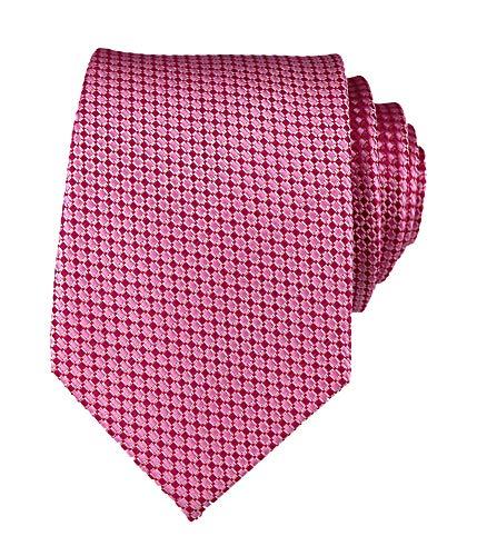 Elfeves Herren Klassische einfarbige Krawatten Business Casual Kleidung Anzug Hochzeit Krawatten - Pink - Einheitsgröße