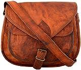 Kanu31 Women's Vintage Leather Handbag Satchel 13'