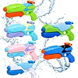JUOIFIP Water Guns for Kids, 6 Pack Super Water Blaster Soaker Squirt Guns, Long Shooting Range 200CC Summer Swimming Pool Beach Sand Outdoor Water Fighting Toys Gifts for Adults Boy Girl